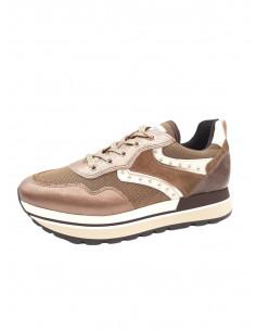 Sneakers de piel y ante Cobre